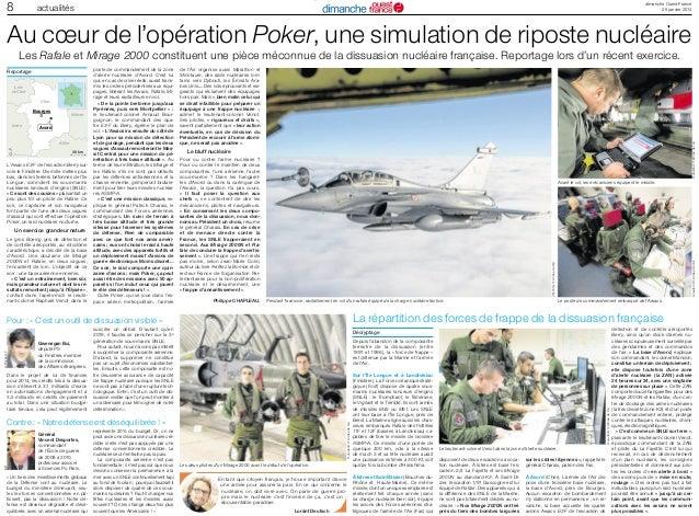 8  dimanche Ouest-France 26 janvier 2014  actualités  Au cœur de l'opération Poker, une simulation de riposte nucléaire Le...