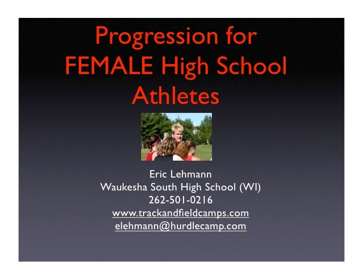 Distance Training   Progression for FEMALE High School       Athletes              Eric Lehmann    Waukesha South High Sch...