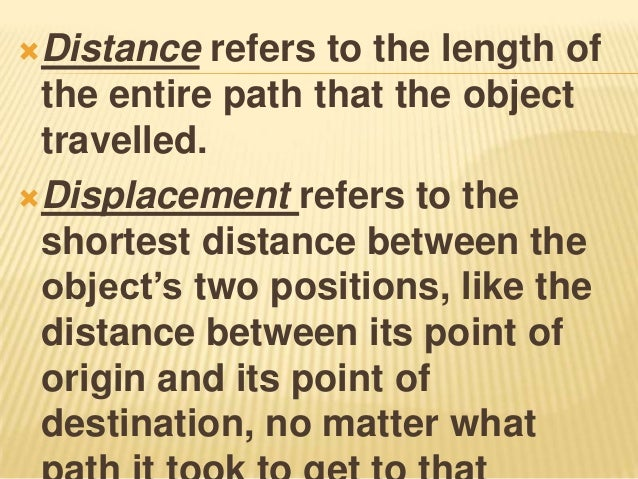 Distance and displacement – Distance Displacement Worksheet