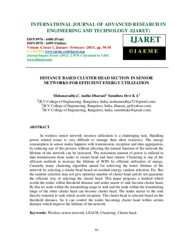 International Journal of Advanced Research in Engineering and Technology (IJARET), ISSN 0976 –  INTERNATIONAL JOURNAL OF A...