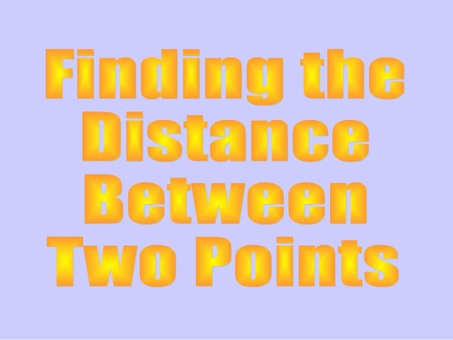 how to find the distance between two points unity 5