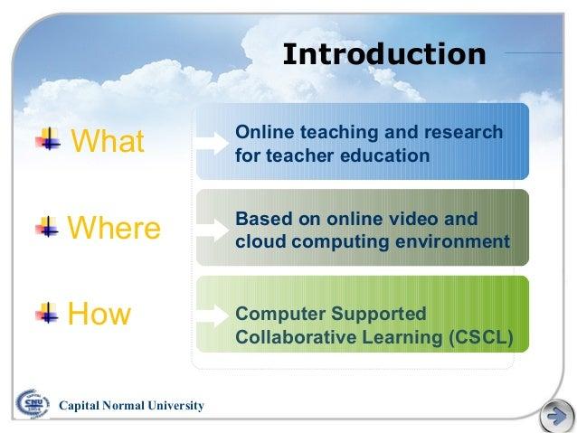 Distance collaborative activities for teacher education online Slide 3