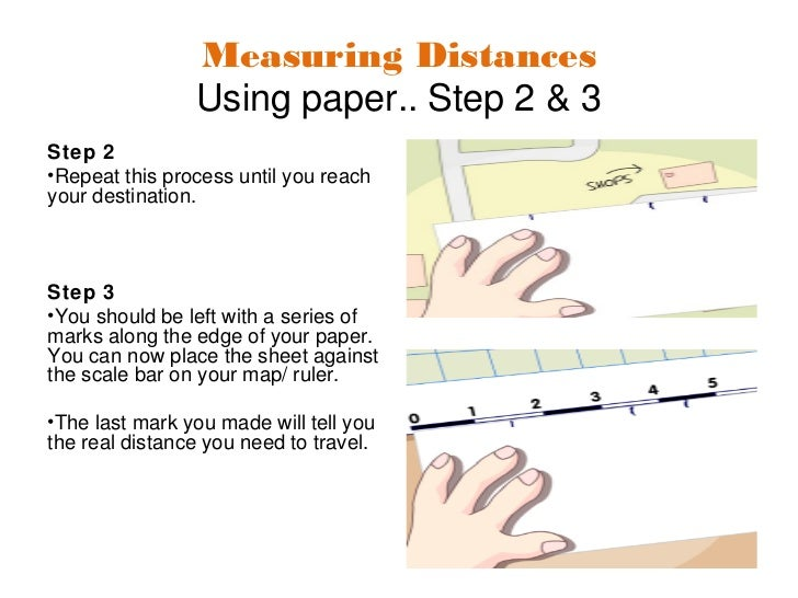 how to calculate distance on map scale