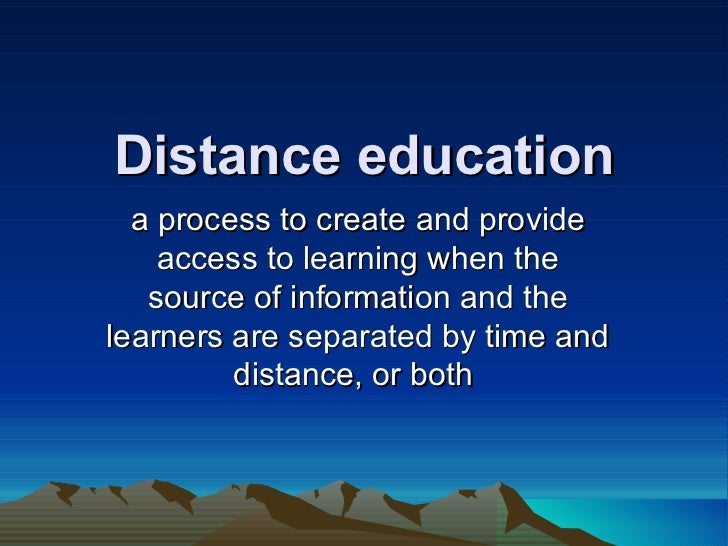 Distance education reported by:Randy M. Pacifico, EDD,EM Student at Batangas State University Slide 3