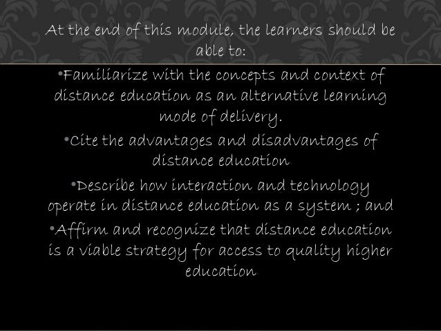 advantages and disadvantages of alternative learning system in the philippines