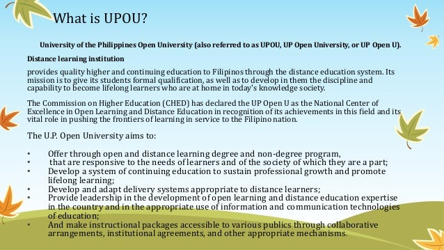 distance learning in the philippines Online and distance learning at reach, inc offers a new way of combining  innovative learning and teaching techniques with interaction with your mentor.