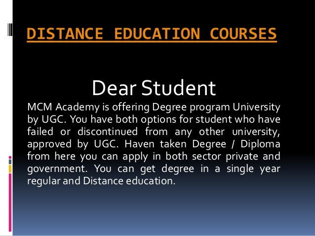 Distance education courses | Degree in a one year | Fast track mode