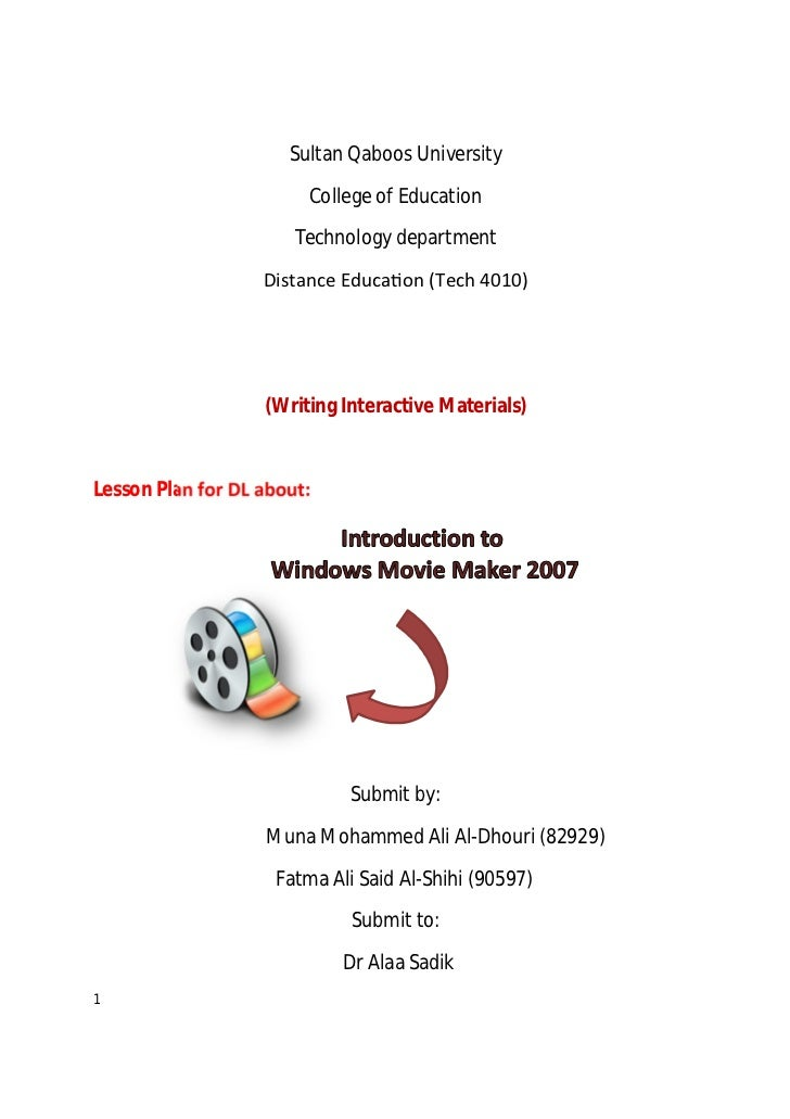 Sultan Qaboos University                        College of Education                       Technology department          ...