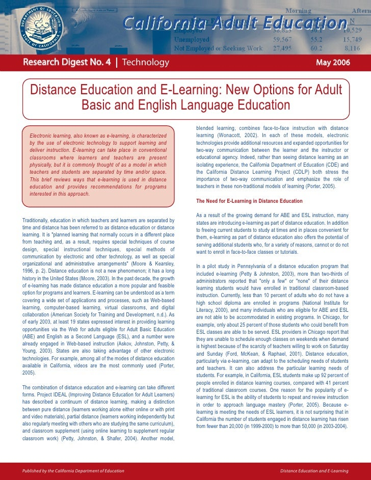 California Adult Education  Research Digest No. 4 | Technology                                                            ...