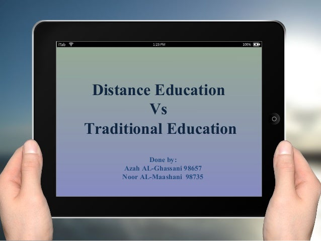a comparison of online education and traditional education A comparison of online and face -to-face instruction in an undergraduate foundations of american education course contemporary issues in technology and teacher.
