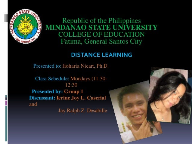 distance education in the philippines