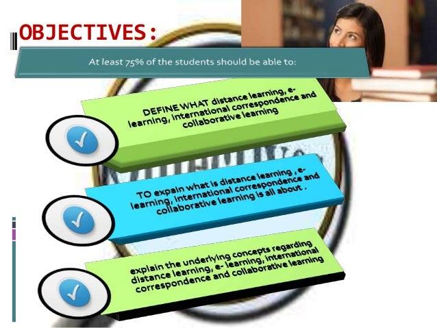 Distance learning Slide 2