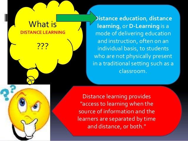 Distance learning Slide 3