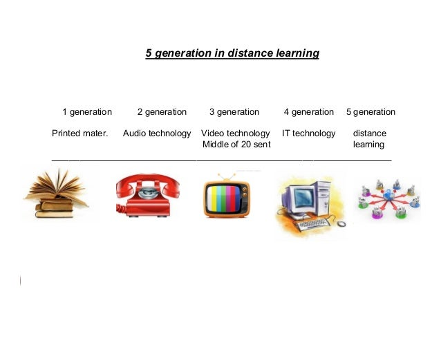 5 generation in distance learning  1 generation Printed mater.  2 generation Audio technology  3 generation  4 generation ...