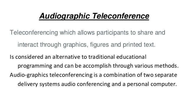 audio graphic teleconferencing