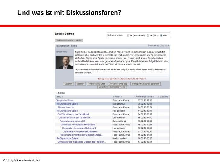 Und was ist mit Diskussionsforen?© 2012, FCT Akademie GmbH