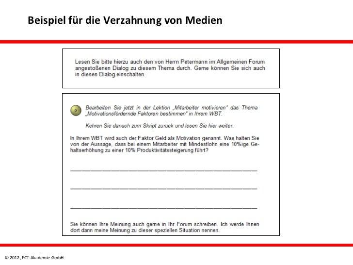 Beispiel für die Verzahnung von Medien© 2012, FCT Akademie GmbH