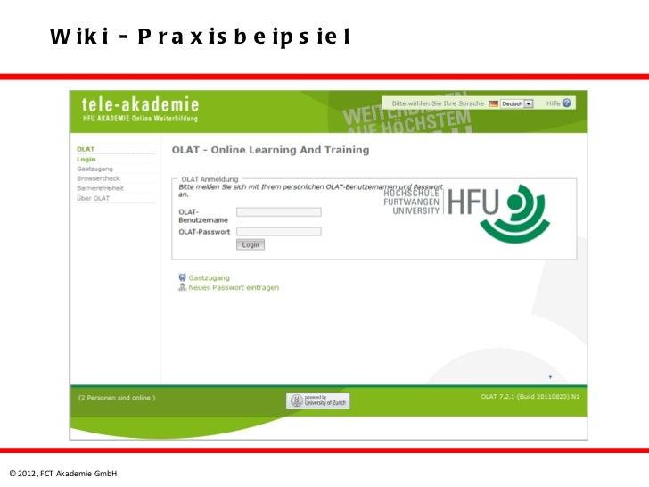 W ik i - P r a x is b e ip s ie l© 2012, FCT Akademie GmbH