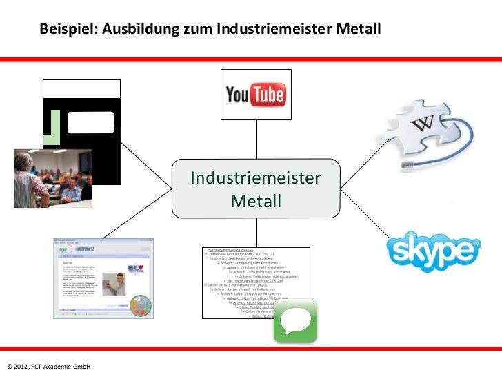 Beispiel: Ausbildung zum Industriemeister Metall                              Industriemeister                            ...