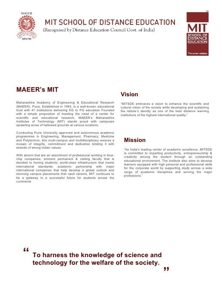 MAEER's MIT                                                                       Vision Maharashtra Academy of Engineerin...