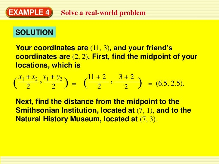 how to find coordinates of a midpoint