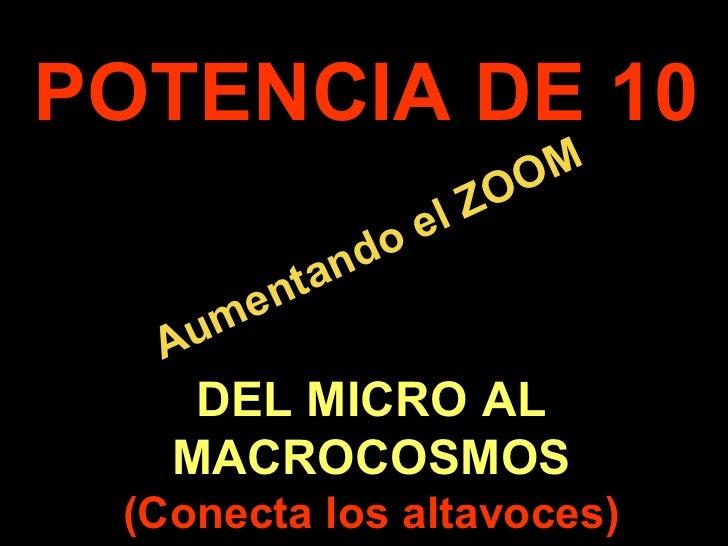 . Aumentando el ZOOM POTENCIA DE 10 DEL MICRO AL MACROCOSMOS (Conecta los altavoces)