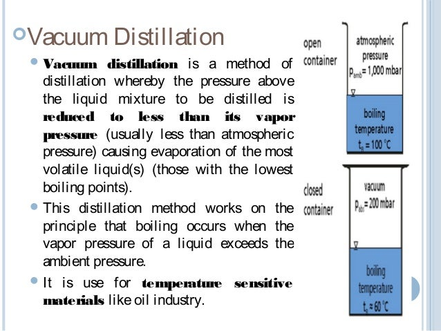 10 Concentration 11 Vacuum Distillation