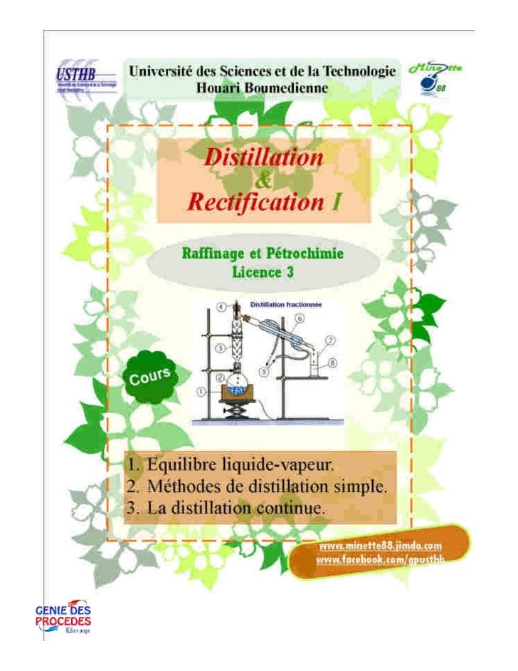 Distillation 1 cours