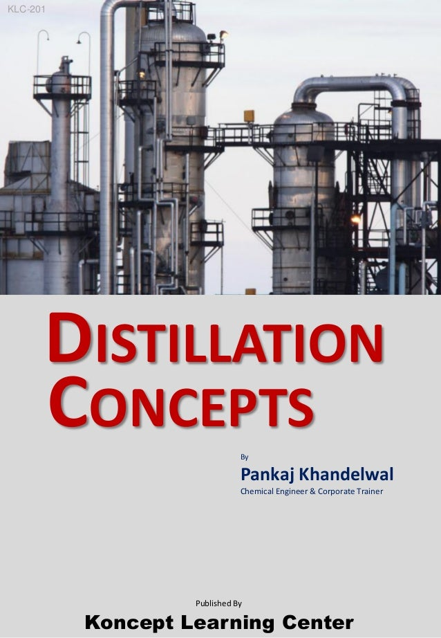 By Pankaj Khandelwal Chemical Engineer & Corporate Trainer Koncept Learning Center DISTILLATION CONCEPTS Published By KLC-...