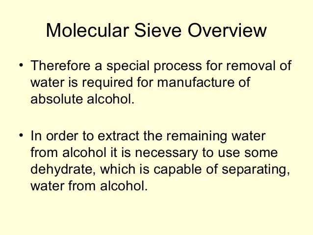 Dehydration of an alcohol distillation and