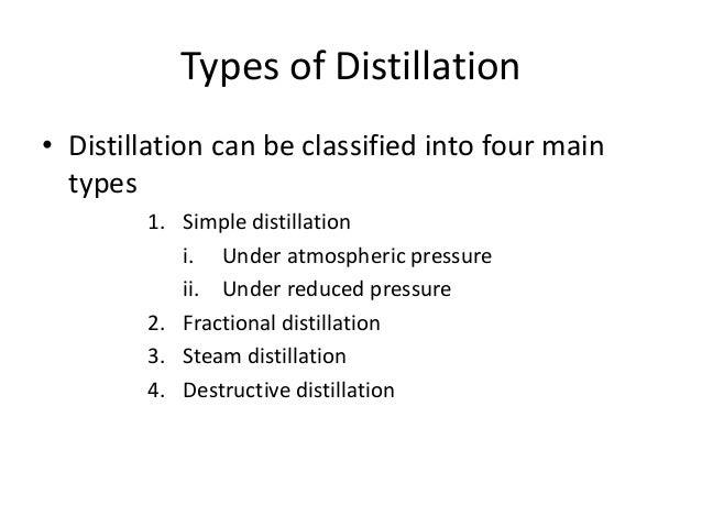 types of distillation column