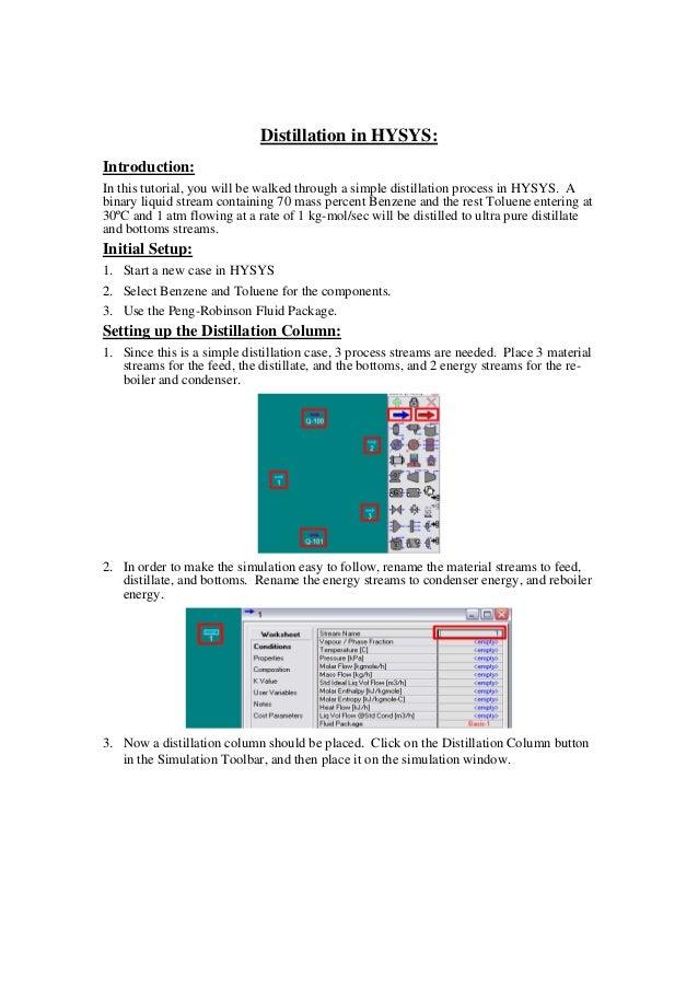 distillation tutorial in hysys rh slideshare net
