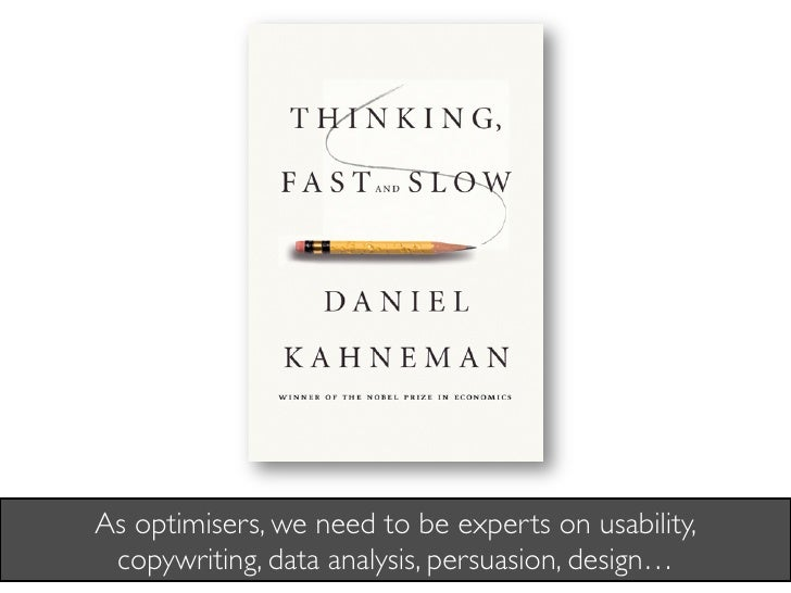 As optimisers, we need to be experts on usability,  copywriting, data analysis, persuasion, design…