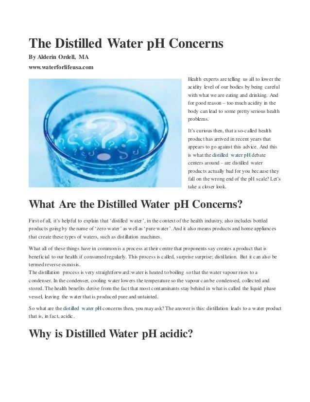 how to change ph of water