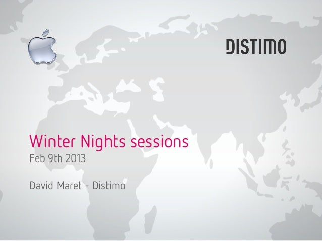 Winter Nights sessionsFeb 9th 2013David Maret - Distimo