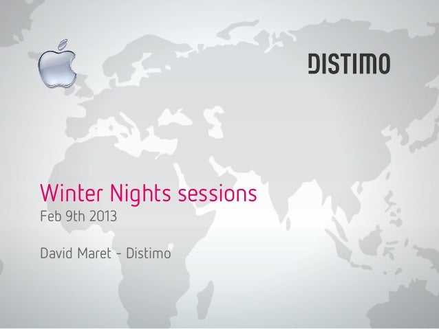 Winter Nights sessions Feb 9th 2013 David Maret - Distimo
