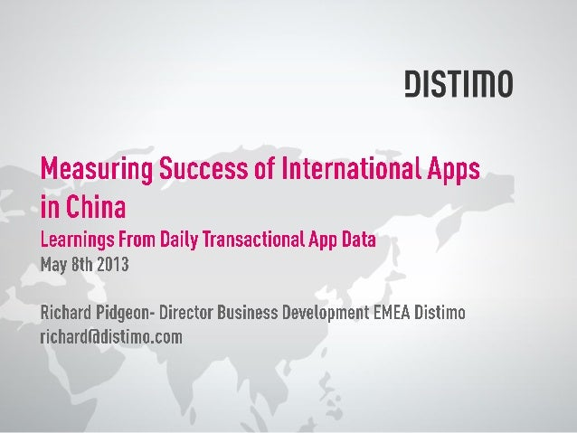 • LEADING APP STORE ANALYTICS COMPANY, TRACKING 3 BILLION DOWNLOADS/ QUARTER FOR OUR 25,000 DEVELOPERS & PUBLISHERS WORLDW...