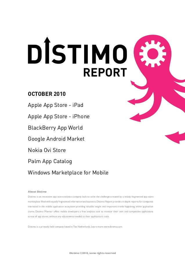 About Distimo Distimo is an innovative app store analytics company built to solve the challenges created by a widely fragm...