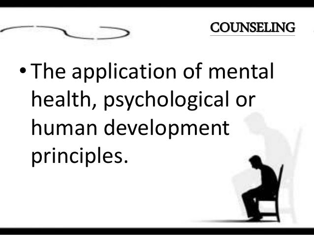 Distinction between counseling and psychotherapy