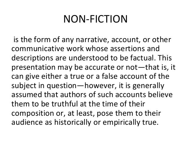 essay fiction story Creative non-fiction telling: details and imagery can only help a personal essay they help to develop a story by making it more real to the reader.