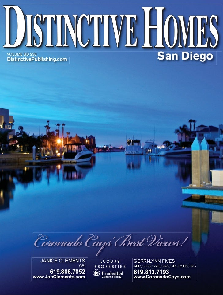 VOLUME SD 230DistinctivePublishing.com                                  San Diego           Coronado Cays' Best Views!    ...