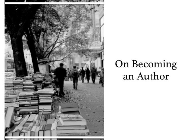 On Becoming an Author