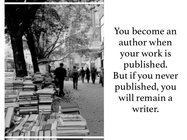 Are You An Author or a Writer & What's the Difference?