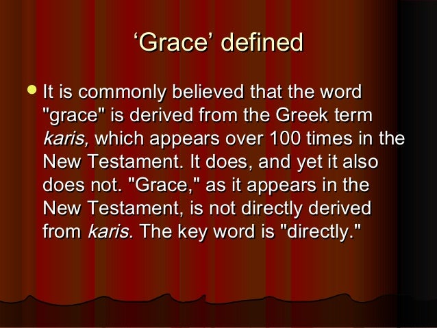 Distinguishing some key terms - Justice, Grace & Mercy