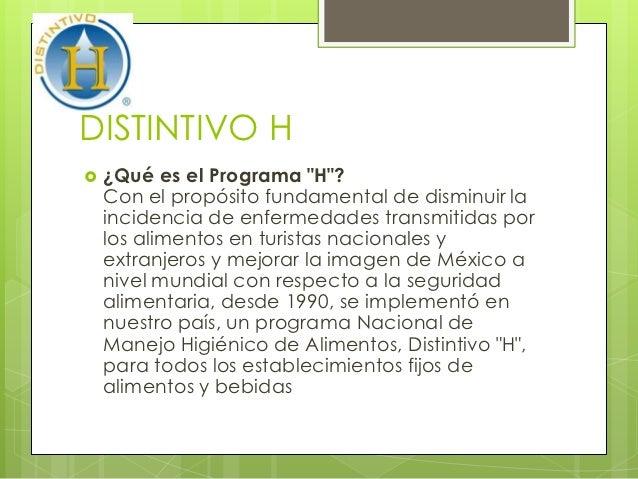 Distintivo h 1 for Manual de procedimientos de alimentos y bebidas de un hotel