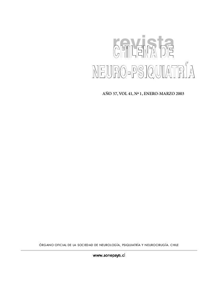 revista                                        CHILENA DE                             NEURO-PSIQUIATRÍA                   ...