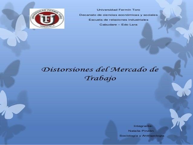 Universidad Fermín Toro Decanato de ciencias económicas y sociales Escuela de relaciones industriales Cabudare – Edo Lara ...