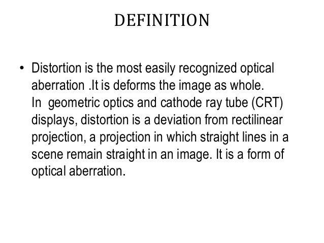 DEFINITION U2022 Distortion ...