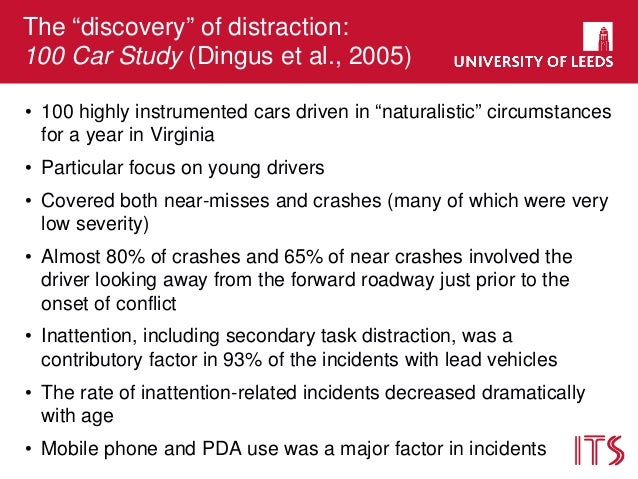 cognitive psychology cell phone induced driver distraction The specific nature of cognitive distraction on visual  research part f: traffic psychology and  cell phone induced driver distraction.