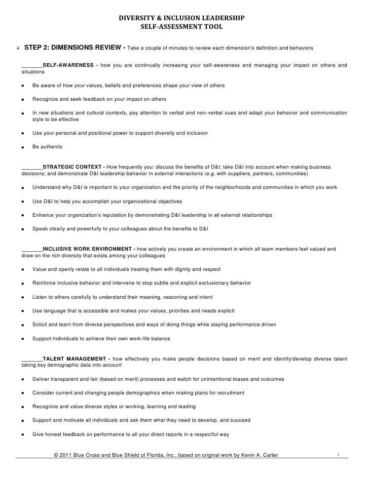 D i strategic leadership assessment tool – Leadership Self Assessment